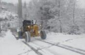 Aydın'da Yüksek Kesimlerine Kar Yağdı