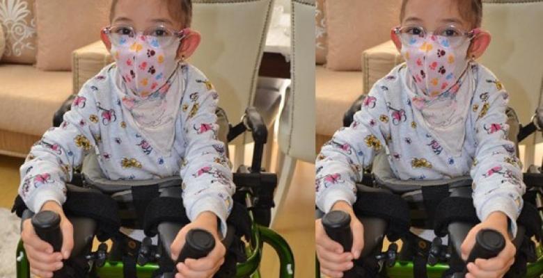 Serebral palsi hastası küçük İnci'nin yürütec sevinci