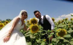 Çiftçinin alternatif ürünü genç çiftlerin düğün anısı oldu