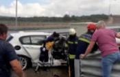 Otoyol görevlisine otomobil çarptı: 2 ölü, 2 yaralı