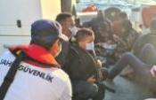 30 düzensiz göçmen kurtarıldı