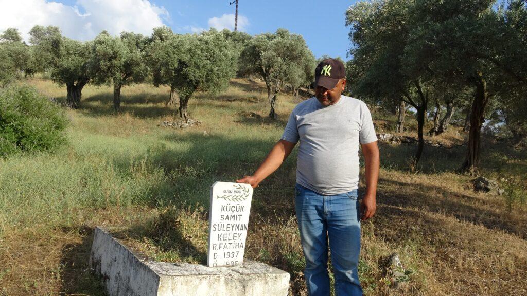 Babası ve kızının mezarının bulunduğu araziyi ihalede başkası alınca yıkıldı