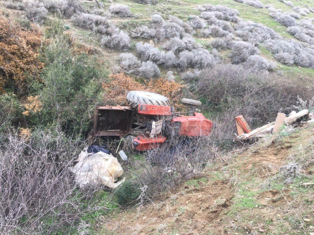 Uçuruma yuvarlanan traktör sürücüsü öldü