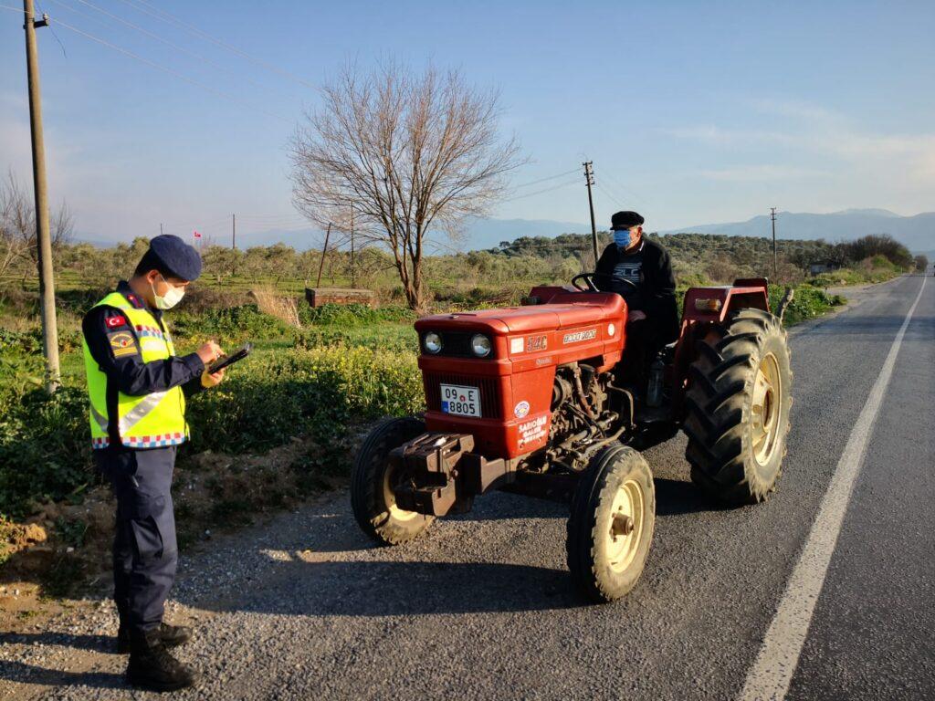 222 traktör sürücüsüne 153 bin 460 lira ceza