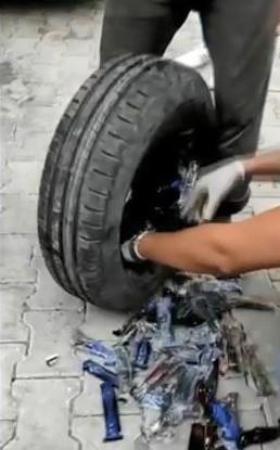 Suriye'den gelen otomobilin stepne içinde 290 sustalı 40 muşta çıktı