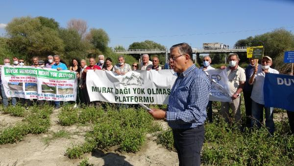 4 ilin çevre derneği Büyük Mendres Nehrinde eylem yaptı